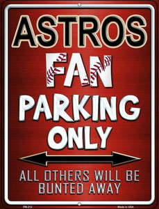 Astros Wholesale Novelty Mini Metal Parking Sign PM-212