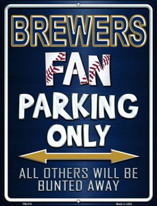 Brewers Wholesale Novelty Mini Metal Parking Sign PM-215