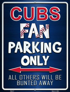 Cubs Wholesale Novelty Mini Metal Parking Sign PM-217