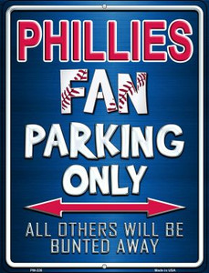 Phillies Wholesale Novelty Mini Metal Parking Sign PM-228