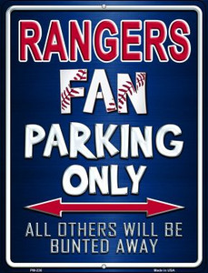 Rangers Wholesale Novelty Mini Metal Parking Sign PM-230
