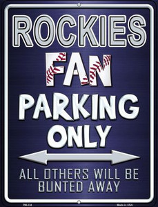 Rockies Wholesale Novelty Mini Metal Parking Sign PM-234