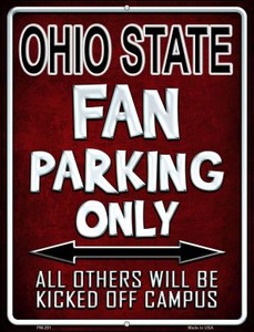 Ohio State Wholesale Novelty Mini Metal Parking Sign PM-291