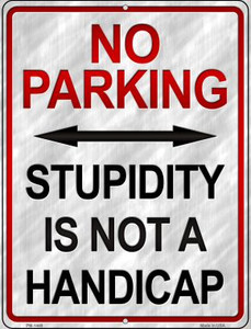 Chef Parking Only Wholesale Novelty Mini Metal Parking Sign PM-1450