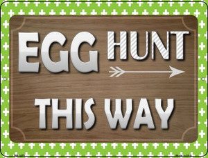 Egg Hunt This Way Wholesale Novelty Mini Metal Parking Sign PM-1479