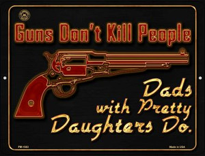 Guns Dont Kill People Wholesale Novelty Mini Metal Parking Sign PM-1503