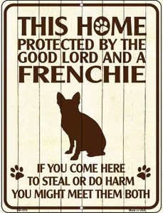 Frenchie Protected Wholesale Novelty Mini Metal Parking Sign PM-1570