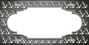 Gray White Anchor Scallop Print Oil Rubbed Wholesale Metal Novelty License Plate