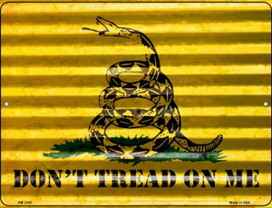 Dont Tread On Me Wholesale Novelty Mini Metal Parking Sign PM-2305