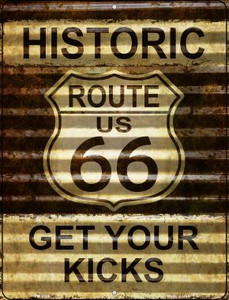 Historic Route 66 Wholesale Novelty Mini Metal Parking Sign PM-2306