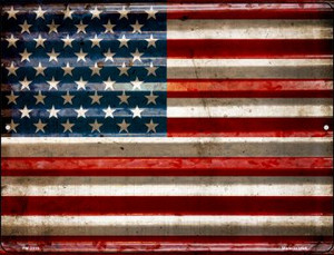 American Flag Wholesale Novelty Mini Metal Parking Sign PM-2311