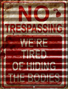 No Trespassing Wholesale Novelty Mini Metal Parking Sign PM-2314