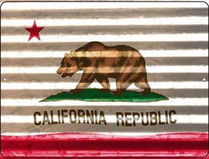 California Flag Wholesale Novelty Mini Metal Parking Sign PM-2319