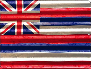 Hawaii Flag Wholesale Novelty Mini Metal Parking Sign PM-2325