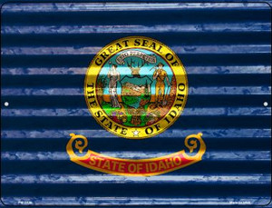 Idaho Flag Wholesale Novelty Mini Metal Parking Sign PM-2326