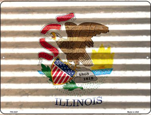 Illinois Flag Wholesale Novelty Mini Metal Parking Sign PM-2327