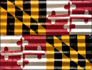 Maryland Flag Wholesale Novelty Mini Metal Parking Sign PM-2334