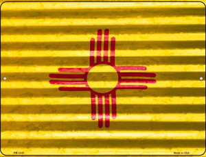 New Mexico Flag Wholesale Novelty Mini Metal Parking Sign PM-2345
