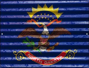 North Dakota Flag Wholesale Novelty Mini Metal Parking Sign PM-2348