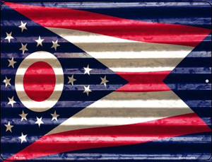 Ohio Flag Wholesale Novelty Mini Metal Parking Sign PM-2349