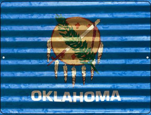 Oklahoma Flag Wholesale Novelty Mini Metal Parking Sign PM-2350
