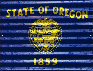 Oregon Flag Wholesale Novelty Mini Metal Parking Sign