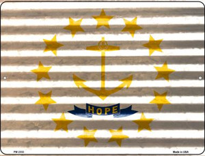 Rhode Island Flag Wholesale Novelty Mini Metal Parking Sign PM-2353