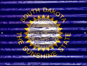 South Dakota Flag Wholesale Novelty Mini Metal Parking Sign PM-2355
