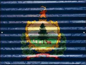 Vermont Flag Wholesale Novelty Mini Metal Parking Sign PM-2359