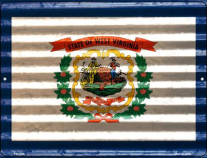 West Virginia Flag Wholesale Novelty Mini Metal Parking Sign PM-2362