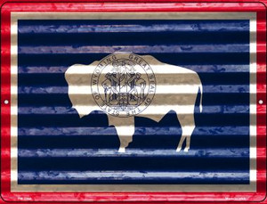 Wyoming Flag Wholesale Novelty Mini Metal Parking Sign PM-2364