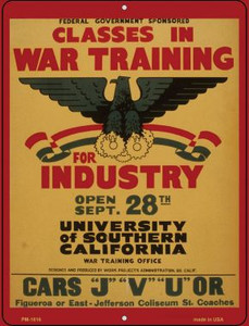 Classes in War Training Wholesale Novelty Mini Metal Parking Sign PM-1816