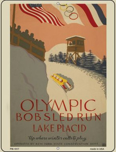 Olympic Bobsled Run Wholesale Novelty Mini Metal Parking Sign PM-1817