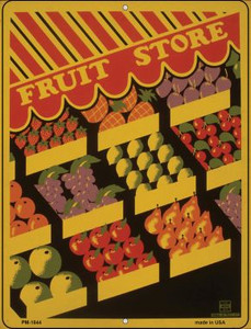 Fruit Store Wholesale Novelty Mini Metal Parking Sign PM-1844