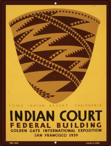 Indian Court Wholesale Novelty Mini Metal Parking Sign PM-1848