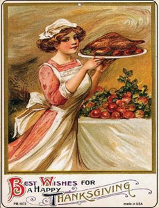 Best Wishes for Thanksgiving Wholesale Novelty Mini Metal Parking Sign PM-1872