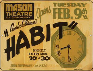 Habit Mason Theatre Wholesale Novelty Mini Metal Parking Sign PM-1920