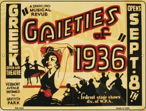 Gaieties of 1936 Wholesale Novelty Mini Metal Parking Sign PM-1922