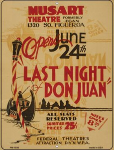 Last Night Don Juan Wholesale Novelty Mini Metal Parking Sign PM-1930