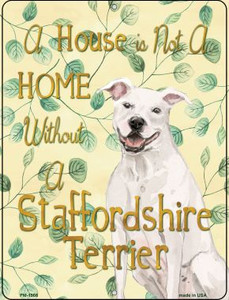 Staffordshire Terrier Wholesale Novelty Mini Metal Parking Sign PM-1966