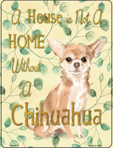Chihuahua Wholesale Novelty Mini Metal Parking Sign PM-1977