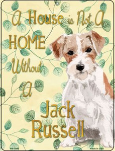 Jack Russell Wholesale Novelty Mini Metal Parking Sign PM-1990