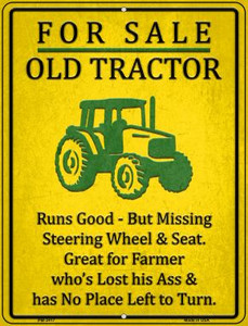 For Sale Old Tractor Wholesale Novelty Mini Metal Parking Sign PM-2417