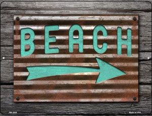 Beach That Way Wholesale Novelty Mini Metal Parking Sign PM-2608