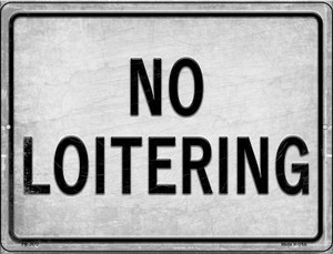 No Loitering Wholesale Novelty Mini Metal Parking Sign PM-2672