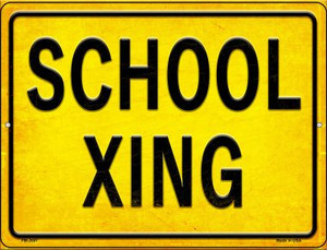 School XING Wholesale Novelty Mini Metal Parking Sign PM-2687