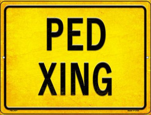 PED XING Wholesale Novelty Mini Metal Parking Sign PM-2691