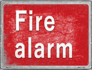 Fire Alarm Wholesale Novelty Mini Metal Parking Sign PM-2714