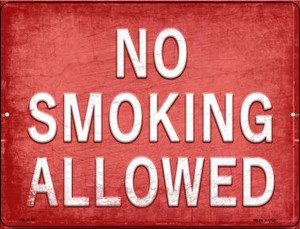 No Smoking Allowed Wholesale Novelty Mini Metal Parking Sign PM-2716