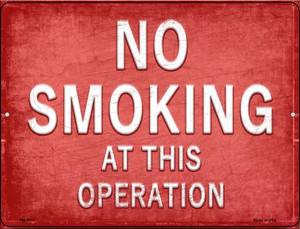 No Smoking  Wholesale Novelty Mini Metal Parking Sign PM-2717